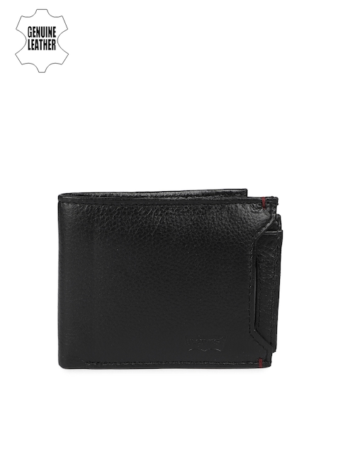 Levis Men Black Solid Two Fold Wallet