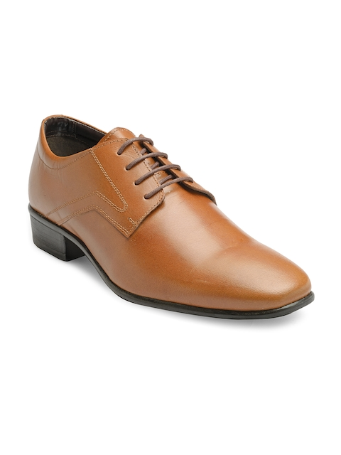 Franco Leone Men Tan Brown Leather Derbys