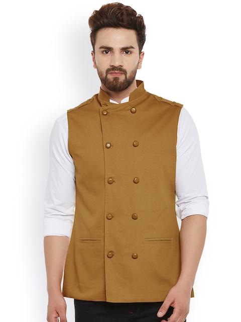 Hypernation Khaki Nehru Jacket