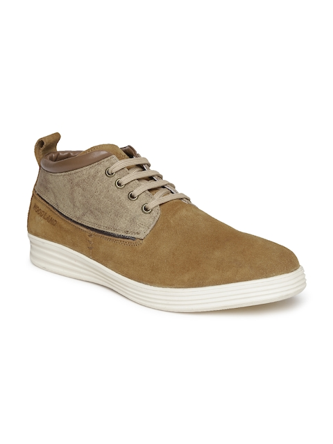 Woodland Men Brown Suede Derbys  available at myntra for Rs.1676