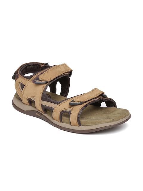 Woodland ProPlanet Men Beige Nubuck Leather Sandals