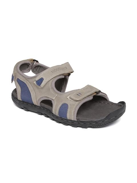 Woodland ProPlanet Men Grey Nubuck Leather Sandals
