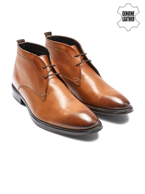 next Men Tan Brown Genuine Leather Chukka Boots
