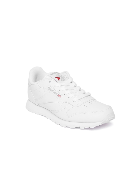 Reebok Classic Boys White Leather Sneakers
