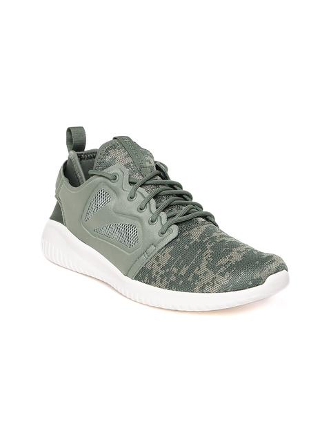 Reebok Classic Women Olive Green Skycush Evolution WOV Sneakers