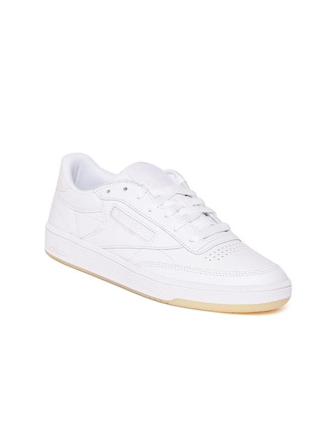 Reebok Classic Women Off-White Club C 85 Leather Sneakers