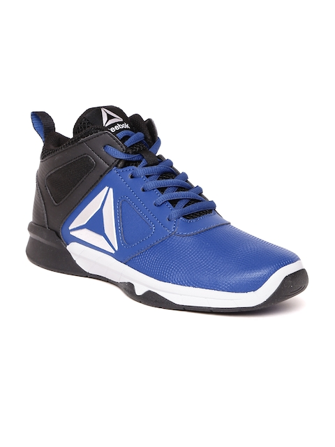 Reebok Classic Boys Blue & Black Colourblocked Black Royal Dash n Drill Sneakers