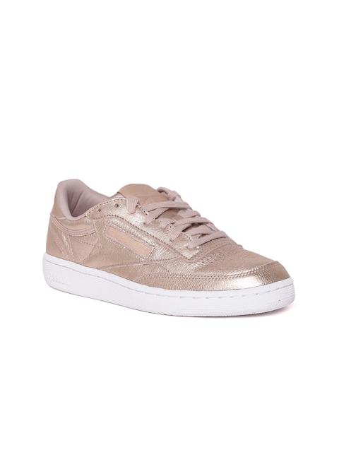 Reebok Classic Women Rose Gold-Toned Club C 85 Melted Metal Sneakers