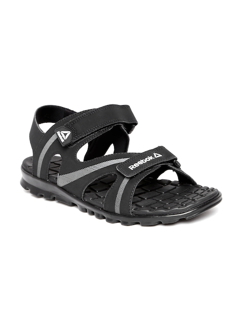 Reebok Men Black Maze Flex Printed Sports Sandals