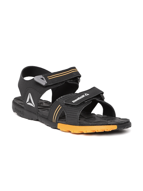 Reebok Men Black Globe Trotter Sports Sandals