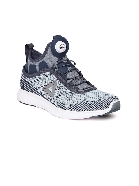 Reebok Women Blue Pump Plus ULTK Patterned Running Shoes
