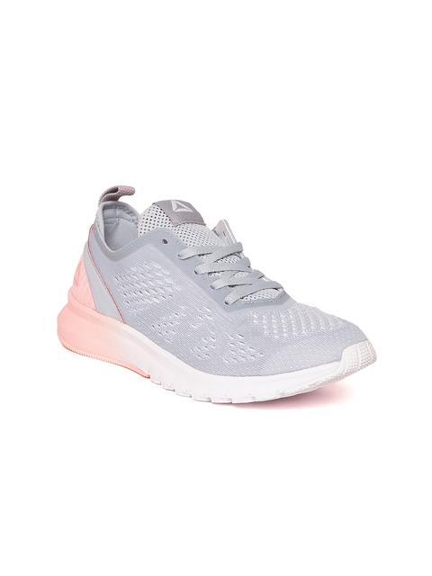 Reebok Women Grey & Peach-Coloured Print Smooth Clip ULTK Running Shoes