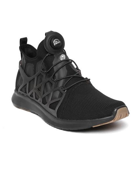 Reebok Men Black Pump Plus Cage Running Shoes