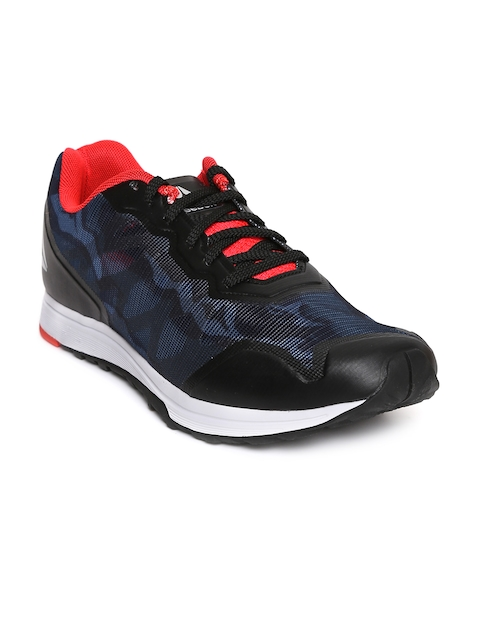 Reebok Men Black & Navy SPRINT TRAIN Running Shoes