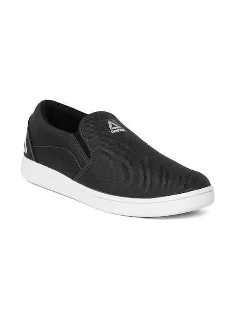 Reebok Men Charcoal Grey Tread Breeze Slip-Ons