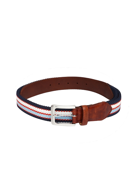 U.S. Polo Assn. Men Multicoloured Striped Belt