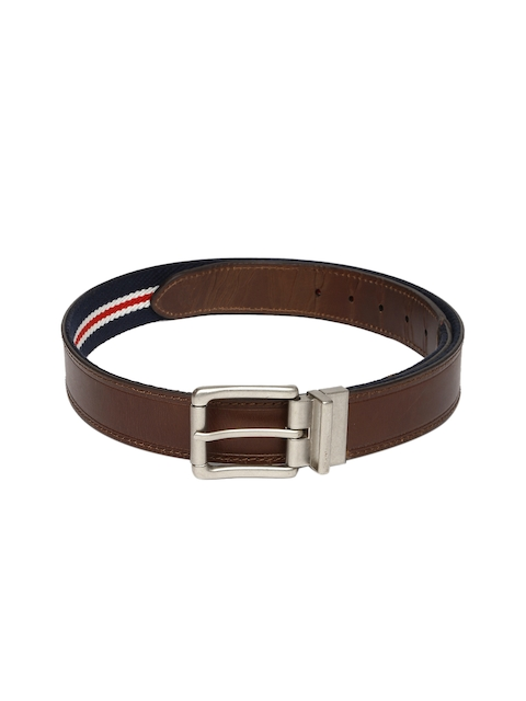 U.S. Polo Assn. Men Brown & Navy Blue Leather Reversible Belt