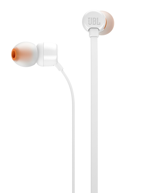 JBL T110 White Earphones with Mic