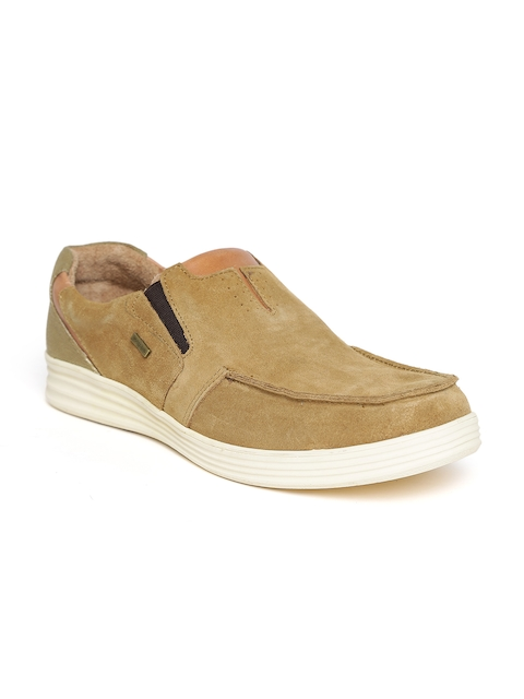 Woodland ProPlanet Men Brown Suede Slip-On Sneakers  available at myntra for Rs.1646