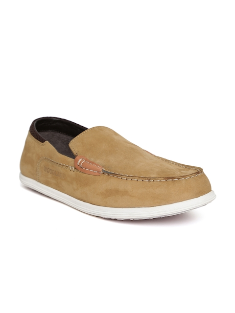 Woodland ProPlanet Men Brown Leather Slip-Ons  available at myntra for Rs.1606