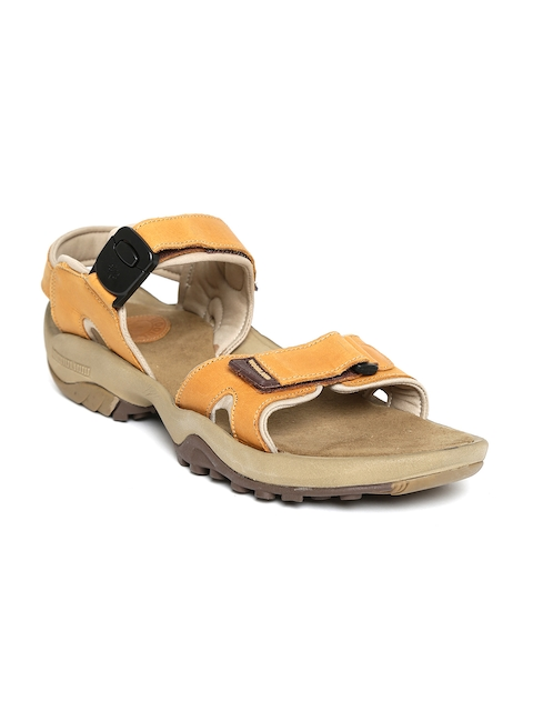 Woodland ProPlanet Men Tan Brown Leather Sandals