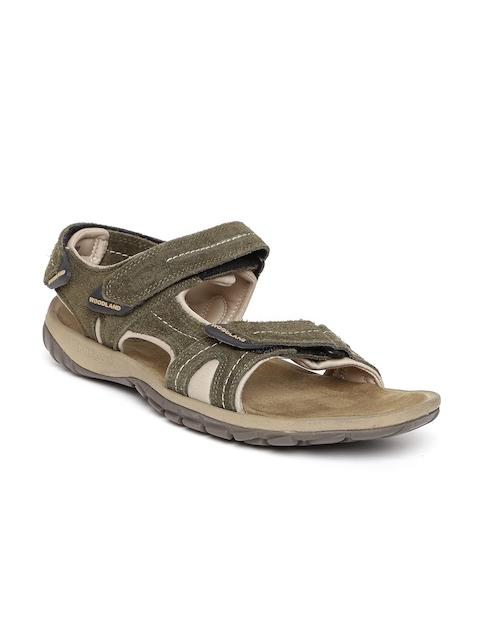 Woodland ProPlanet Men Olive Green Suede Sandals