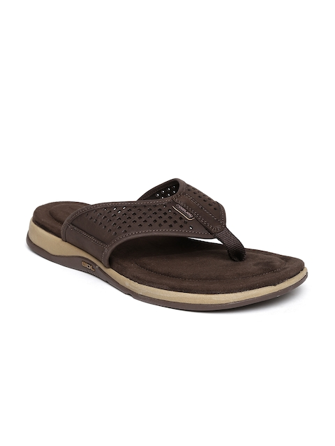 Woodland ProPlanet Men Brown Cut-Out Leather Sandals