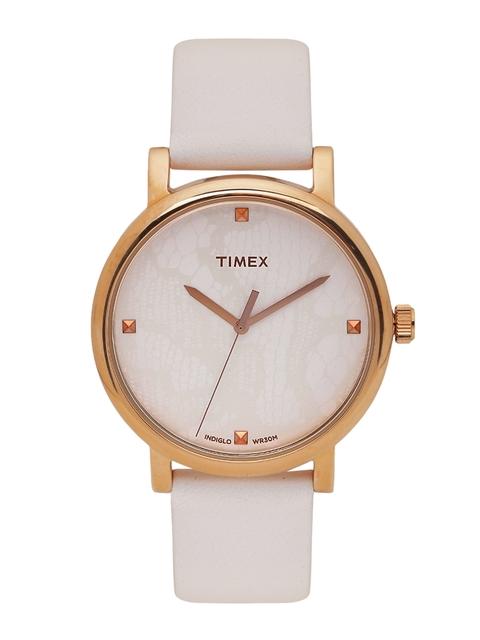 Timex Women Off-White Analogue Watch T2P460