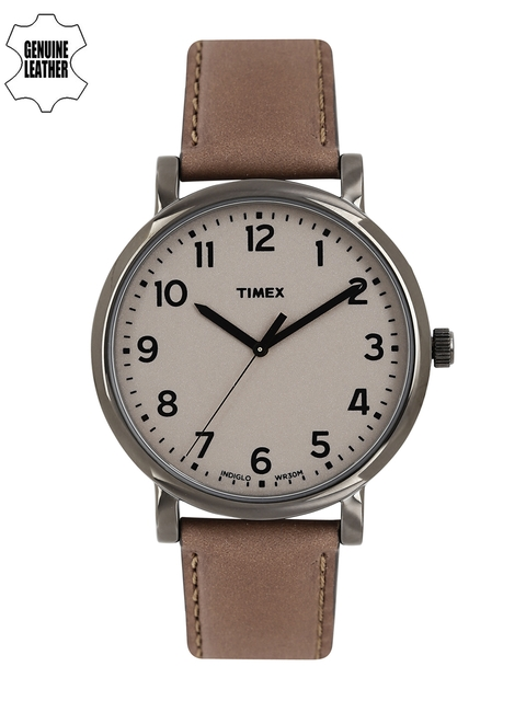 Timex T2N957 Brown Analogue Unisex Watch (T2N957)