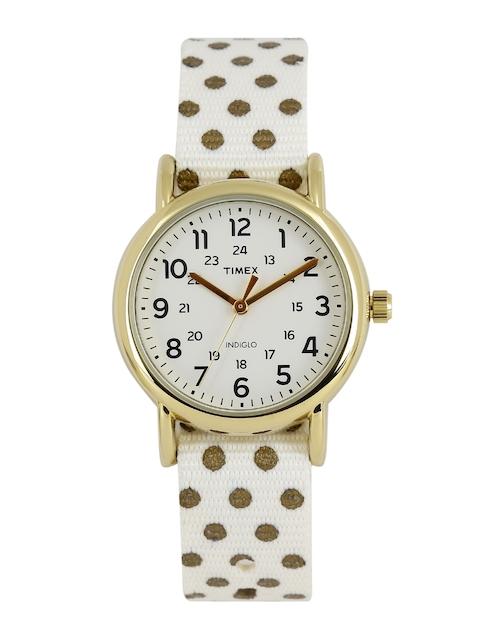 Timex Women Off-White Analogue Watch TW2P65400