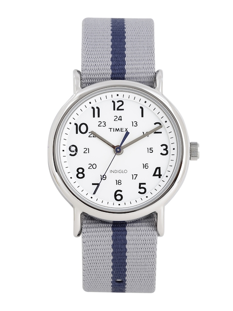 Timex Men Off-White Analogue Watch TW2P72300