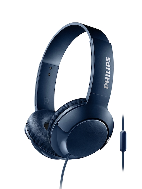 Philips Black Over-Ear BASS+ Headphones with Mic SHL3075BL