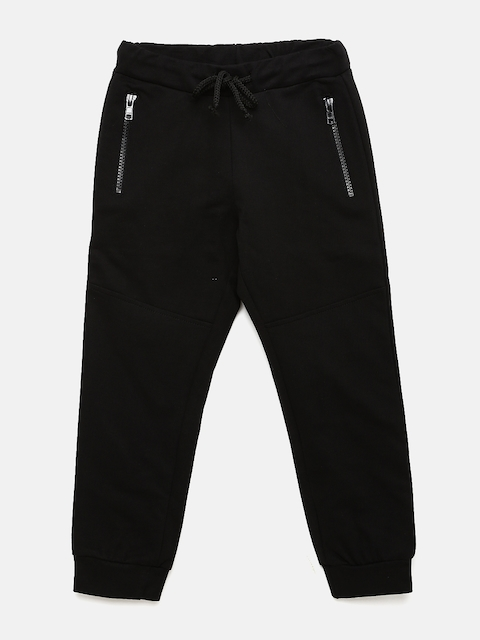 YK Boys Black Joggers