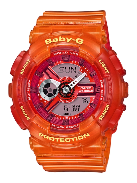 CASIO Women Orange & Grey Analogue and Digital Watch BX089