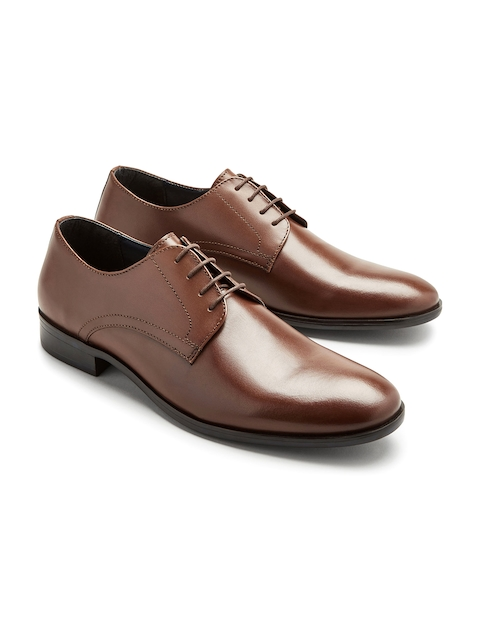 next Men Brown Genuine Leather Formal Shoes