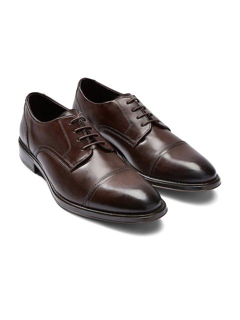 next Men Brown Genuine Leather Derbys
