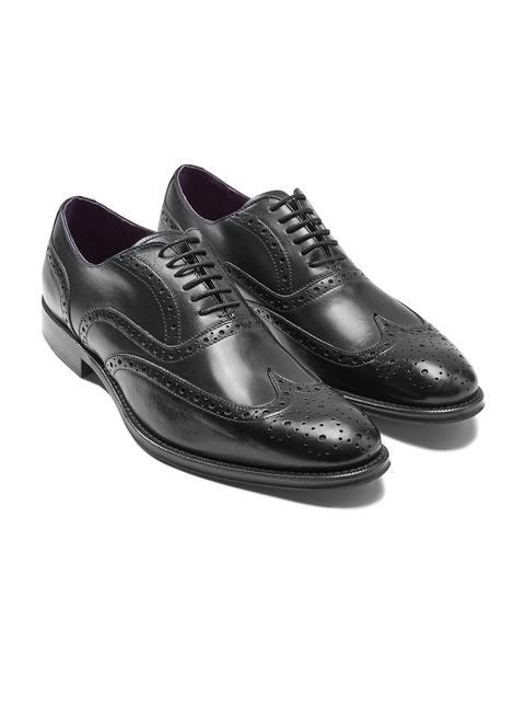 next Men Black Genuine Leather Brogues