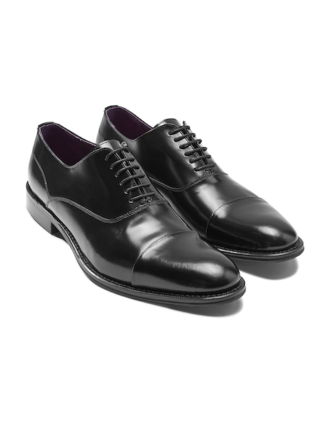 next Men Black Genuine Leather Oxfords