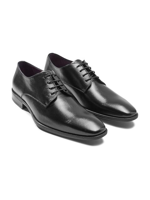 next Men Black Genuine Leather Derbys