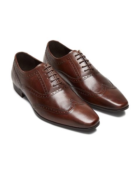 next Men Coffee Brown Genuine Leather Brogues