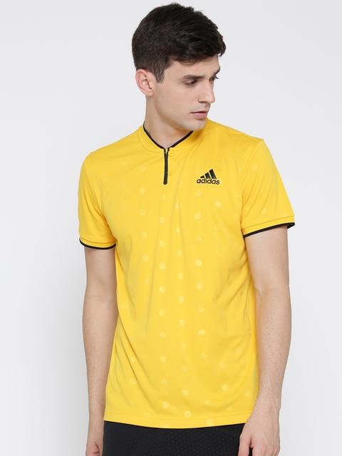 Adidas Men Yellow London Printed T-shirt
