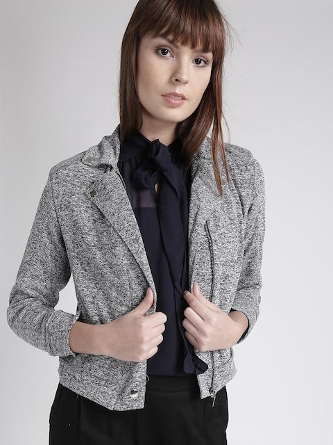 Chemistry Women Navy Patterned Tailored Jacket