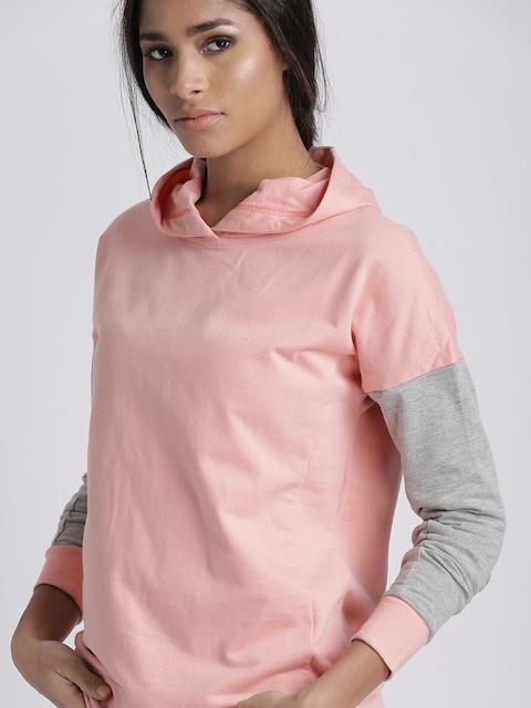 Chemistry Women Pink Hooded Sweatshirt