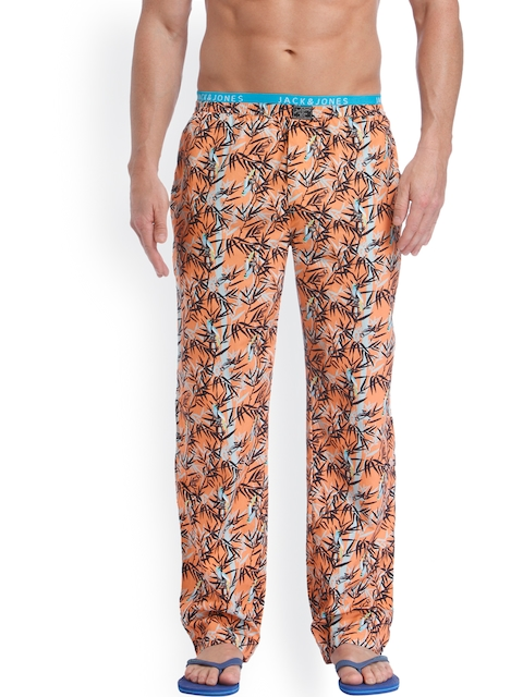 Jack & Jones Peach & Black Printed Pyjamas 1954249004