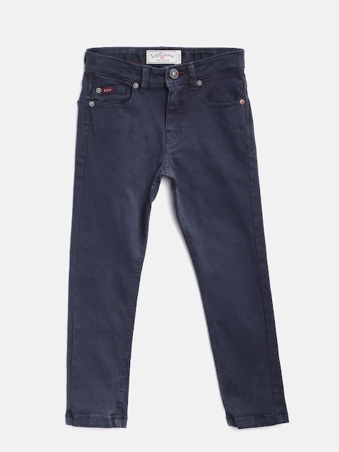 Lee Cooper Boys Navy Blue Slim Fit Mid-Rise Clean Look Stretchable Jeans  available at myntra for Rs.749