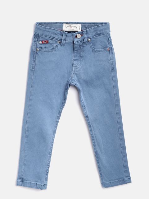 Lee Cooper Boys Blue Slim Fit Mid-Rise Clean Look Stretchable Jeans  available at myntra for Rs.769