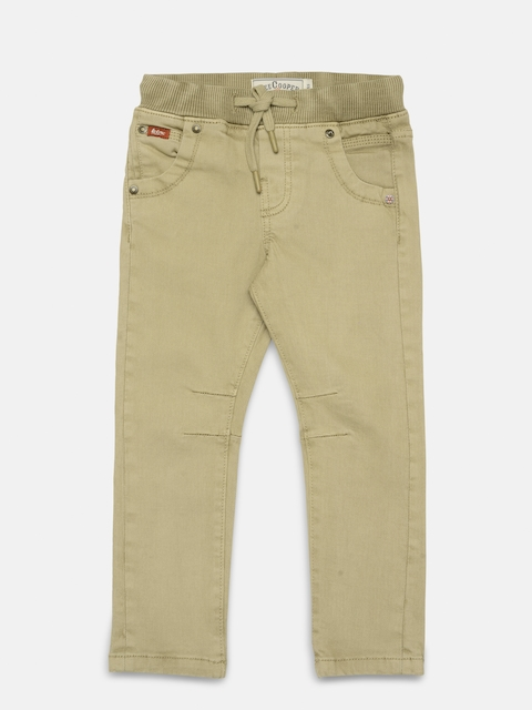 Lee Cooper Boys Beige Slim Fit Clean Look Stretchable Jeans  available at myntra for Rs.769