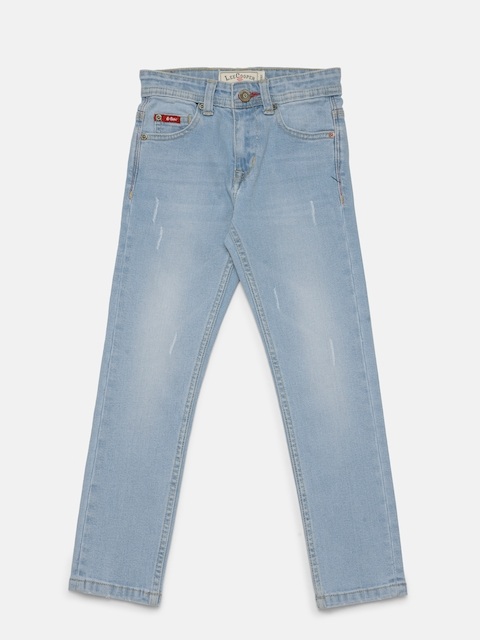 Lee Cooper Boys Blue Slim Fit Mid-Rise Low Distress Stretchable Jeans  available at myntra for Rs.749