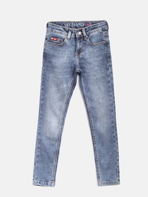 Lee Cooper Girls Blue Annie Slim Fit Mid-Rise Clean Look Stretchable Jeans  available at myntra for Rs.699