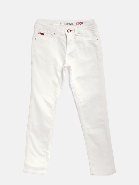 Lee Cooper Girls White Annie Slim Fit Stretchable Jeans  available at myntra for Rs.749